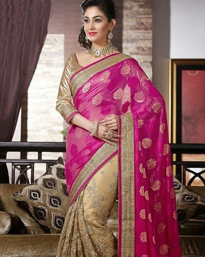 Bollywood Designer Saree-Pink