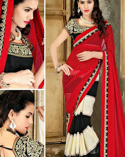 Designer Bollywood Saree-Half Georgette