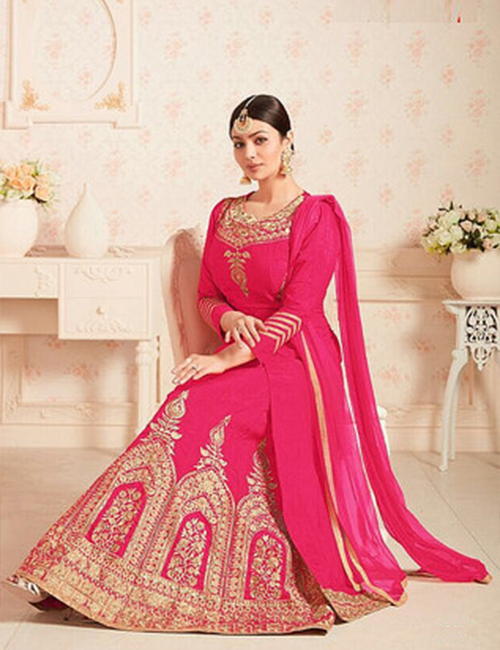 Ready-made Anarkali-Pink