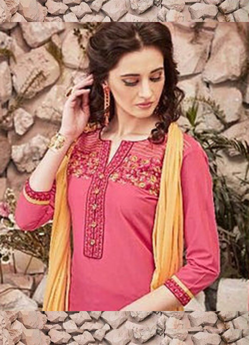 Ready Made Patiala Suit-Pink