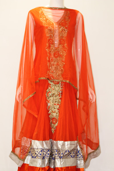 Designer Salwaar Kameez-Orange