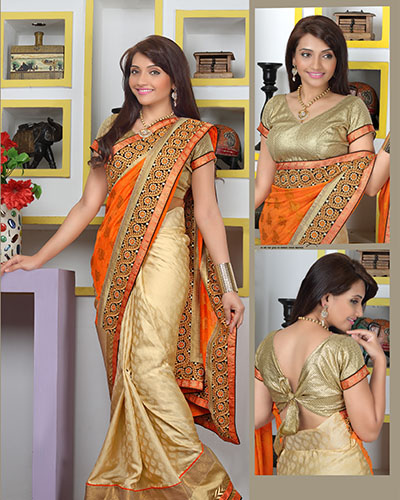Bollywood Designer Saree-Orange